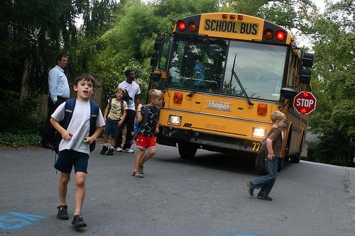 the school bus routine