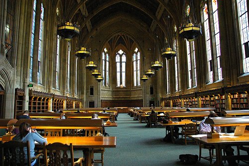 Suzzallo Library, one of the great libraries of the world - studying here embues you with a feeling of scholarly history, Seattle, Washington, USA