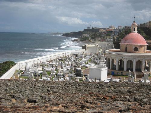 View of the Santa Maria Magdalena de Pazzis Graveyard